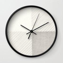 Buffalo Check Pencil Drawing Wall Clock