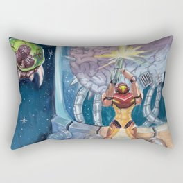 Super Metroid Fan Art Rectangular Pillow