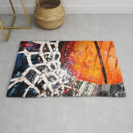 Basketball art swoosh vs 47 Rug