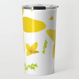 Forsythia flowers Travel Mug