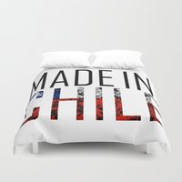 chile Duvet Covers featuring Made In Chile by VirgoSpice