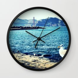 Feeling Peaceful by the Golden Gate Bridge Wall Clock