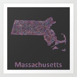 Massachusetts Art Print