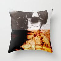 the shining Throw Pillows featuring Shining by Lama BOO