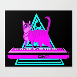 Pink Cat in Space Canvas Print