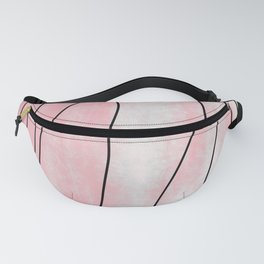 Pink Pastel Abstract Aerial Watercolor Topography Fanny Pack
