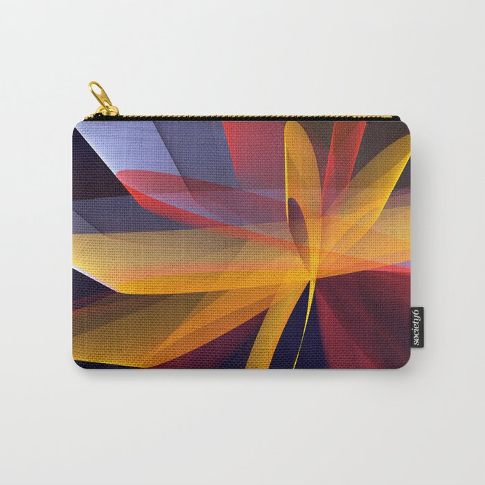 Transparent foldings, modern colourful abstract Carry-All Pouch