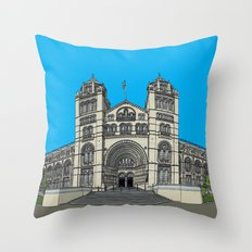 The Natural History Museum, London Throw Pillow