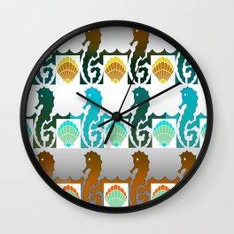 Seahorses & Shells 3 Wall Clock