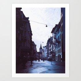 Rainy Zürich Art Print