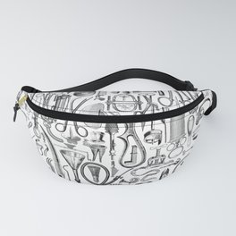 Medical Condition B&W Fanny Pack