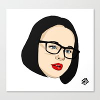 ghost world Canvas Prints featuring Ghost world by Bleachydrew