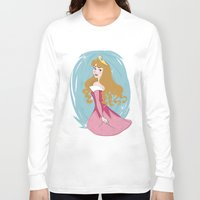 sleeping beauty Long Sleeve T-shirts featuring Sleeping Beauty by LarissaKathryn