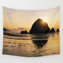 Cannon Beach haystack Wall Tapestry