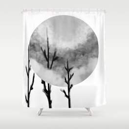 Three Sticks One Circle No.2 Shower Curtain