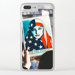 We the People - Women's March London Clear iPhone Case