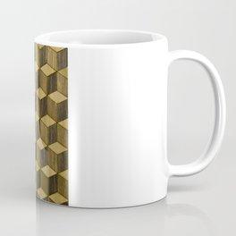 Optical wood cubes Coffee Mug