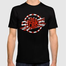 The Strokes Logo Welcome To Japan MEDIUM Black Mens Fitted Tee
