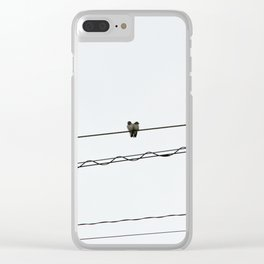 Glad you're by my side Clear iPhone Case