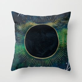New Moon Original Mixed Media Painting Throw Pillow