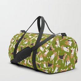 beagle scatter green Duffle Bag