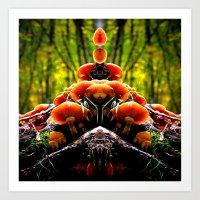 mushrooms Art Prints featuring mushrooms by haroulita