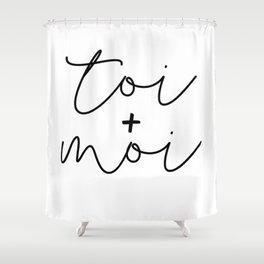 Toi + Moi Shower Curtain