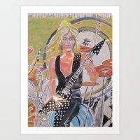 randy c Art Prints featuring Randy Rhoads by Robert E. Richards