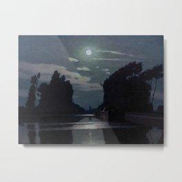 Charles Guilloux - Lever de Lune sur un Canal - Moonrise on a Canal Metal Print