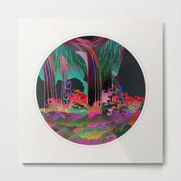 Reincarnation - Neon Waterfalls Metal Print