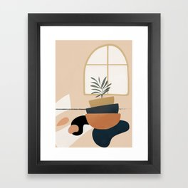 Plant in a Pot Framed Art Print