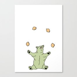 bear juggler Canvas Print