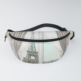 Eiffel Tower room with a view Fanny Pack