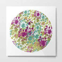 English Flowers Metal Print