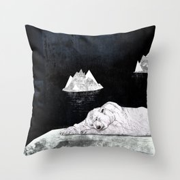 Sleeping Polar Bear Throw Pillow