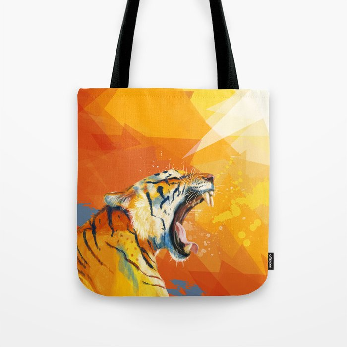 Tiger in the morning Tote Bag