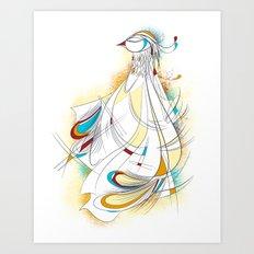 Royal bird Art Print