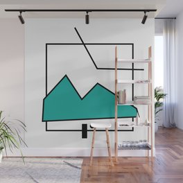 ABSTRACT MOUNTAIN LINES Wall Mural