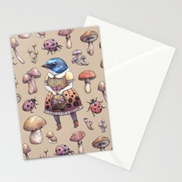 Mushroom Pickers - Lady Blue Stationery Cards