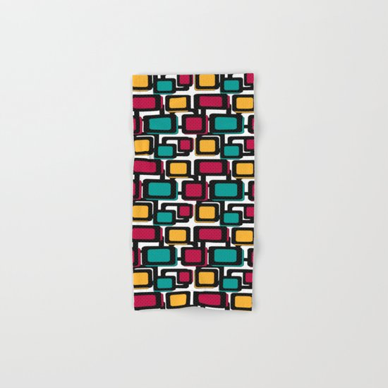 Seamless pattern with geometric elements Hand & Bath Towel