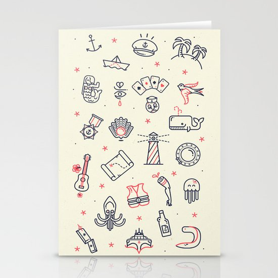 Ahoy! Icons Stationery Cards