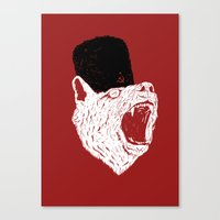 russian Canvas Prints featuring Russian Bear by Arkady Zaifman
