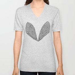 Black Cicada Wings Unisex V-Neck