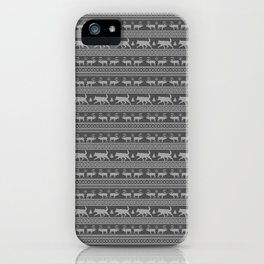 Ugly christmas sweater | Lapponian herder grey iPhone Case
