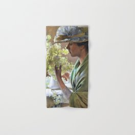 12,000pixel-500dpi - Charles Courtney Curran - Lady With A Bouquet - Digital Remastered Edition Hand & Bath Towel