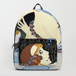 "Art Deco Illustration ""Stolen Kisses"" Backpack"