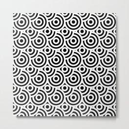 japanese pattern black Metal Print