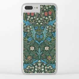 William Morris Blackthorn Wallpaper Block Print Pattern, 1892 Clear iPhone Case