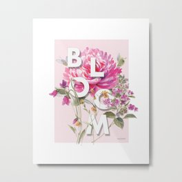 Obviously Pink Bloom Metal Print