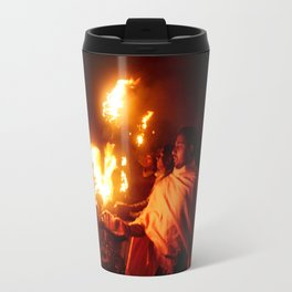 Fire on the Ganga River Travel Mug